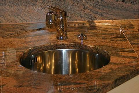 k chenarbeitsplatte aus granit juparana india hollerung restaurierung gmbh hollerung. Black Bedroom Furniture Sets. Home Design Ideas